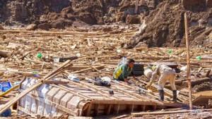 Localitate distrusă în Chile în urma alunecărilor de teren. Sursa: AFP.